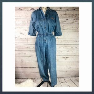Vintage denim jumpsuit by Mizz Lizz, Sz M